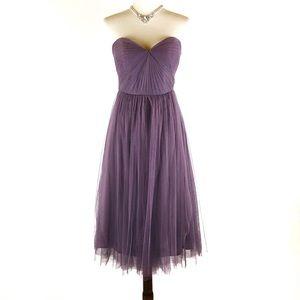 Jenny Yoo tulle strapless tea length dress